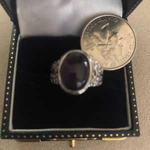 Jewelry - 5 for $20! Sz 7 purple stone silver fashion ring